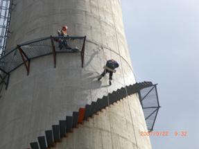 嘉兴市烟囱安装旋转梯