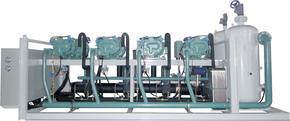 比泽尔四机并联超低温螺杆并联制冷机组