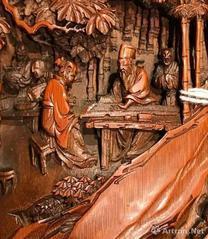 上海古典人物浮雕雕刻