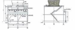 逆流式混凝土框架结构冷却塔