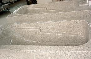 米黄色花岗岩浴缸GVS001
