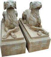 仿古大理石狗雕刻MGD363