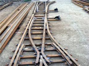 新款矿用无砟轨道道岔价格  六号矿用道岔生产厂家