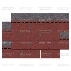 沥青瓦油毡瓦玻纤瓦批发厂家YFSDD-D1101单层中国红