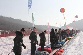 四季滑雪场景区代步工具七彩雪地魔毯云梯