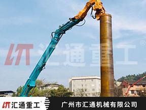 日立350挖掘机打桩臂、长臂打桩机、钩机打桩机制造