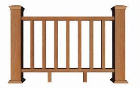 木塑栏杆塑木护栏围栏栅栏道路河道公园庭院防护栏杆