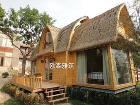 异形小木屋,小船木屋,胶合木结构,度假村树屋,异形茅草屋,茅草亭,木制风车