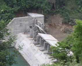 6米高,8.33米宽倾斜式翻板闸门