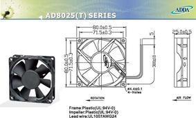 ADDA散热风扇AD0812HB-A70(AD0824HB-A70)