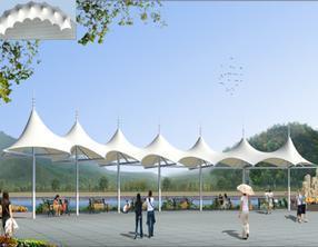 贵州雨棚膜结构 贵阳帐篷张拉膜 风雨棚 遮阳棚 连廊顶棚膜结构 遮阳亭张拉膜 遮阳伞膜结构