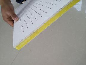 高密度玻纤板 优质玻纤吸音天花板
