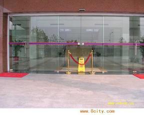 上地伸缩门维修安装玻璃门维修玻璃门门禁