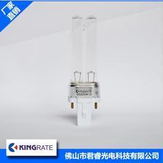 君睿厂家直销高质量h型石英玻璃材质5w紫外线灯管 稳定