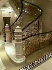 铜铝雕刻楼梯护栏02