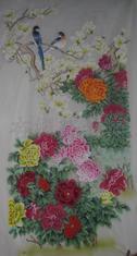 丝绸手绘壁纸