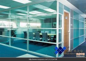 上海铝合金成品玻璃隔断YYD系列双层玻璃内置百叶隔墙