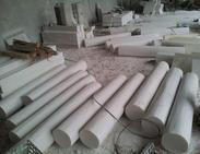 圆形纯白大理石圆柱子MCS227