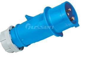 专业生产 CEE/IEC工业插头插座 40A 3孔暗装插座 IP67防水插头插座