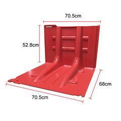 組合式紅色防洪板_河北五星御洪擋水板價格