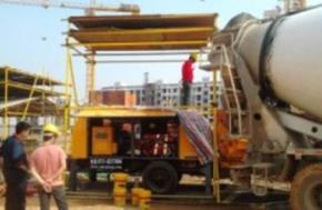 地暖打垫层用混凝土泵|细石泵|细石混凝土泵厂家