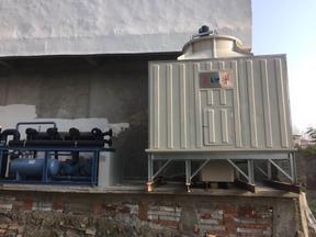西安菱宇新款100吨方形横流式冷却塔