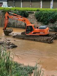 水上清淤挖掘机租赁 水上挖掘机出租