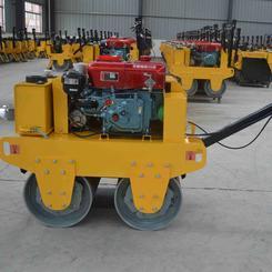 柴油手扶双轮压路机,沟槽回填土压实 手扶双钢轮压路机