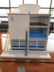 逆流式钢混结构冷却塔