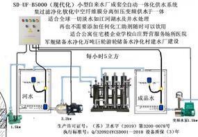 小型水厂河水井水净化膜分离现代化全自动生产线