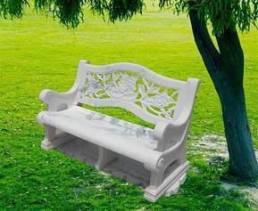 白色大理石�L椅 MCF212