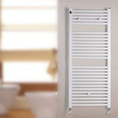 Round pipe Straight Plastic-Coated Towel Warmers