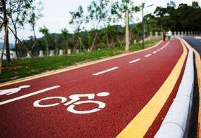 山东滨州彩色路面改色喷涂剂自由绘画颜色好极了