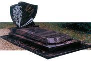 棕黑色花岗岩墓碑石GME001
