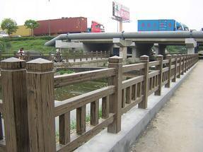上海仿木栏杆/仿木模具制作