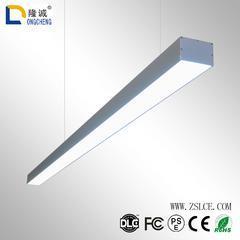 办公灯led吊线灯长条灯铝材线条灯圆角条形灯超市工程照明吊灯