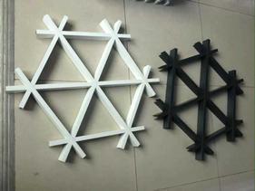 黑色铝格栅吊顶 白色烤漆铝格栅 木纹铝格栅