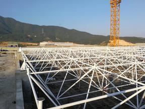 苏州上海PL牌体育场馆螺栓球网架结构屋盖