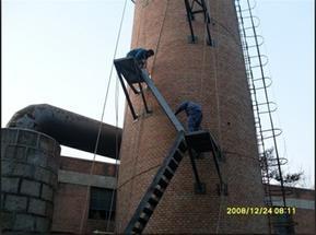 绥化烟囱安装旋转梯|烟囱折梯安装|烟囱安装检测平台