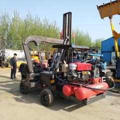 自行折叠式四缸液压打桩机公路护栏打桩机