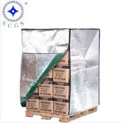 营口实体厂家定制货柜用隔热托盘罩、保冷保鲜袋、气泡托盘袋