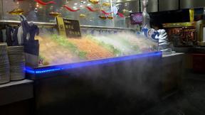 菜品喷雾保鲜机|雾化机|自助餐喷雾机|水果台喷雾