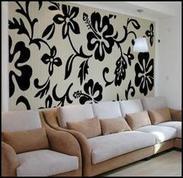 供应广州液体壁纸 墙纸 承接酒店 KTV 家庭装修工程
