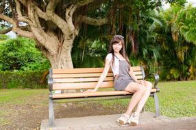 木塑公园椅休闲椅花园椅景观椅广场椅塑木靠背椅长条椅