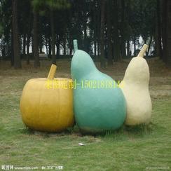 供应玻璃钢水果雕塑来图定制