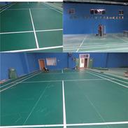 广东深圳羽毛球馆PVC塑胶运动地板厂家直销 片材PVC地板批发