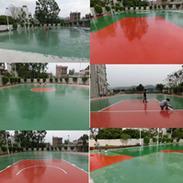广东硅PU球场 篮球场硅PU材料 硅pu羽毛球场专业施工