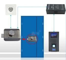 指纹电控锁门禁 磁力锁防盗门门禁套装