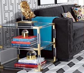 有机玻璃展示架亚克力小型书架客厅茶几简易置物架多功能书