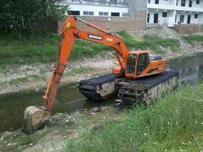 2019新品福州市台江区清淤机械出租水上挖掘机租赁
